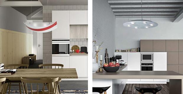 Un lampadario moderno a sospensione per la cucina