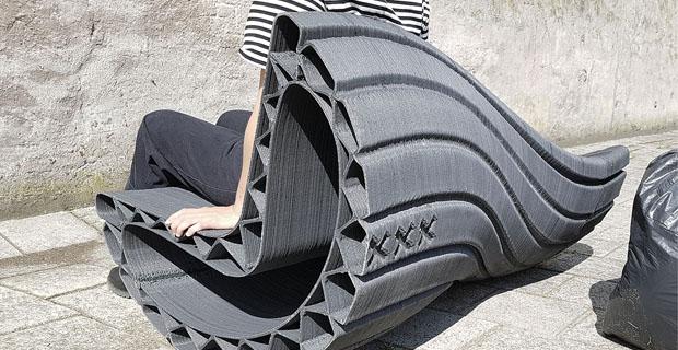 La prima panchina stampa 3D con plastica riciclata con Print your City